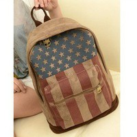 Backpack restoring ancient ways the flag of the United States