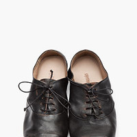Marsèll Black Worn Leather Oxfords for men | SSENSE