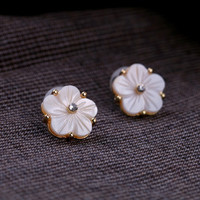 Seashell Flower Link Earrings