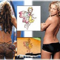 Britney Spears - Fairy Temporary Tattoo - [5x5 cm]: Amazon.co.uk: Toys &amp; Games