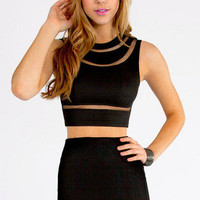 Tegan Cutout Crop Top $25