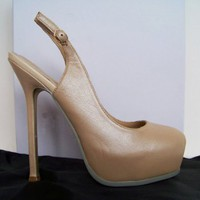 Sheepskin Platform Sandals in Beige [TQL120305025] - $53.49 :