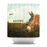 "Catherine McDonald ""Don't ASSuMe"" Shower Curtain 