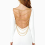 Off The Chain Dress - White