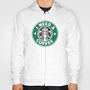 STARBUCKS - I need a coffee! Hoody by John Medbury (LAZY J Studios)