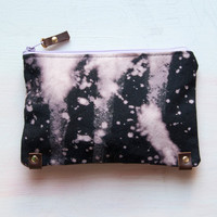 M A K E UP Bag Hand Dyed Clutch Small Make Up by GiftShopBrooklyn