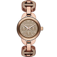 Michael Kors Runway Rose Gold &amp; Sand Chronograph Watch | Dillards.com