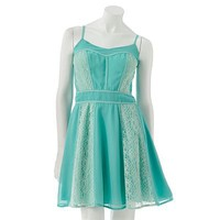 LC Lauren Conrad Lace Chiffon Dress