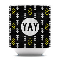 "Skye Zambrana ""Yay"" Shower Curtain 