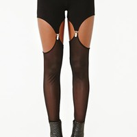 Mesh Garter Leggings
