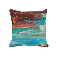 Paradise Cove Throw Pillow by Janet Antepara