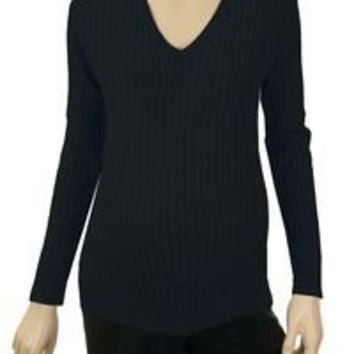 Amazon.com: Lilo Maternity Cotton Cable V-neck Sweater: Clothing