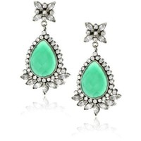 Rosena Sammi Passage to India Sovereign Emerald and Crystal Earrings - designer shoes, handbags, jewelry, watches, and fashion accessories