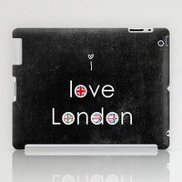 i love London iPad Case by ingz
