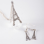 Evening in Paris Eiffel Tower Necklace Set - Silver from Jewelry &amp; Accessories at Lucky 21 Lucky 21
