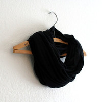 Classic Black Scarf - Black infinity scarf