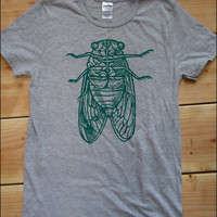Cicada Mens Heathered Gray tshirt