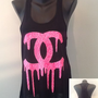 Racer tank w/ laced back- CC