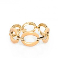 Elle Bracelet in Peach - ShopSosie.com