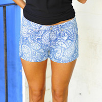 We Love Our Paisley Shorts: Denim | Hope's