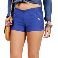 Blue Sailor Shorts