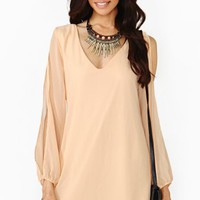 Talia Dress - Peach