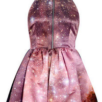 Christopher Kane|Galaxy-print silk-satin dress|NET-A-PORTER.COM