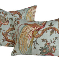 Decorative Bird Pillows Large Cushion Covers by PillowThrowDecor