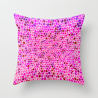 THINK PINK Throw Pillow by catspaws