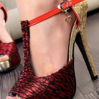 Ladies Fashion HighHeel Peeptoe Glitter Party Shoes