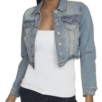 Destroyed Denim Jacket | Shop Jackets at Wet Seal