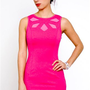 Keepsake Love Out Of Lust Dress- Pink Peekaboo Dress- $125