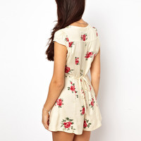 River Island Floral Print Playsuit