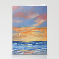 Sunset Reflections Stationery Cards by Rosie Brown