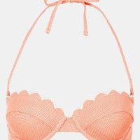 Topshop &#x27;Tangerine&#x27; Scalloped Bikini Top | Nordstrom
