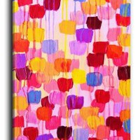 Amazon.com: DiaNoche Designs Canvas Art FREE SHIPPING - Dotty in Pink: Arts, Crafts & Sewing