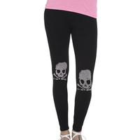 Skull Knee Printed Legging | Shop Bottoms at Wet Seal