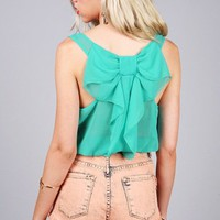 Sheer Bow Top | Cute Tops at Pink Ice