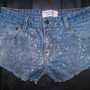 OOAK Trendy Glitter Shorts Women size 6 Festival by CrazySexyChic
