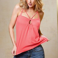 Keyhole Lightly Padded Bra Top