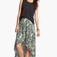 Lily White High/Low Faux Wrap Skirt (Juniors) | Nordstrom