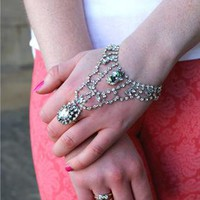 Jeweled hand bracelet from Blue Flamingo