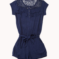 Crocheted Yoke Romper