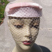 Vintage pillbox hat, Union made hat, fashion accessories