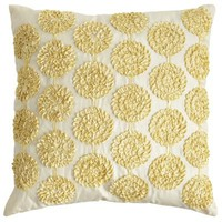 Ribbon Flowers Pillow