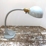 Gray Gooseneck Lamp Industrial Lamp Desk by VintageShoppingSpree