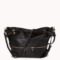 Faux Leather Hobo Bag | FOREVER 21 - 1045406074