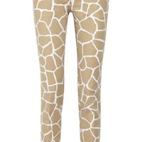 MICHAEL Michael Kors|Giraffe-print stretch-cotton pants|NET-A-PORTER.COM