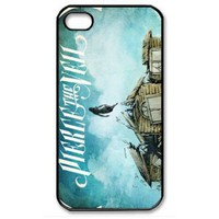 Apple Iphone 4,4s Hard Case Collide with the Sky By Pierce the Veil