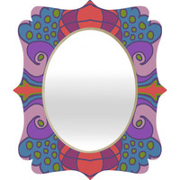 DENY Designs Home Accessories | Paula Ogier Coral Sea 1 Quatrefoil Mirror